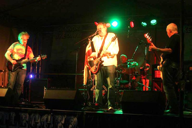 Bootlegger classic rock band at Chinnor Bike Dayz