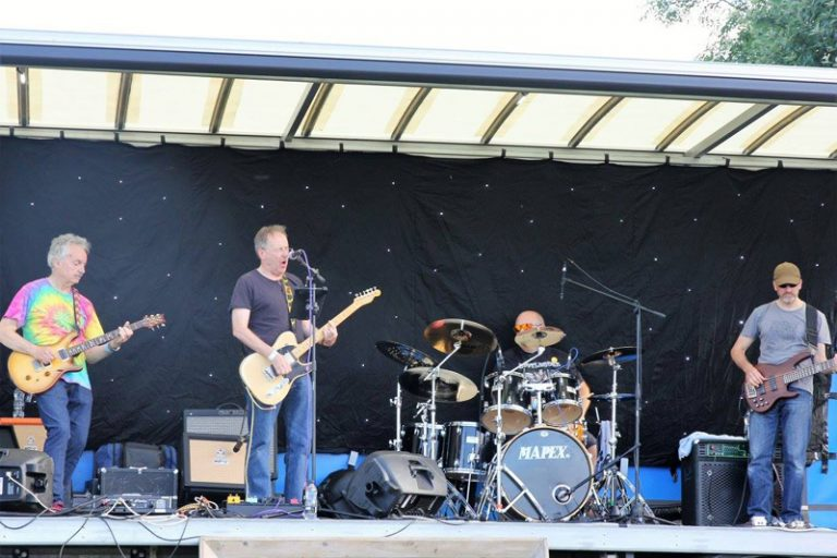 Bootlegger classic rock band at Haddenham Beer Festival.