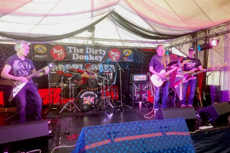 Bootlegger classic rock band at Wycombe MAG Dirty Donkey